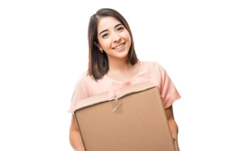 woman moving out